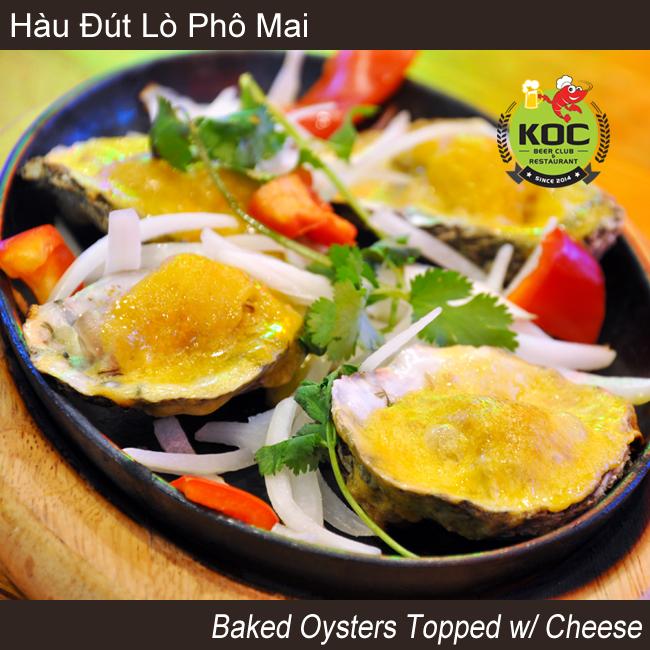 Hàu Đút Lò Phô Mai Baked Oysters w/ Cheese Little Saigon KOC Restaurant