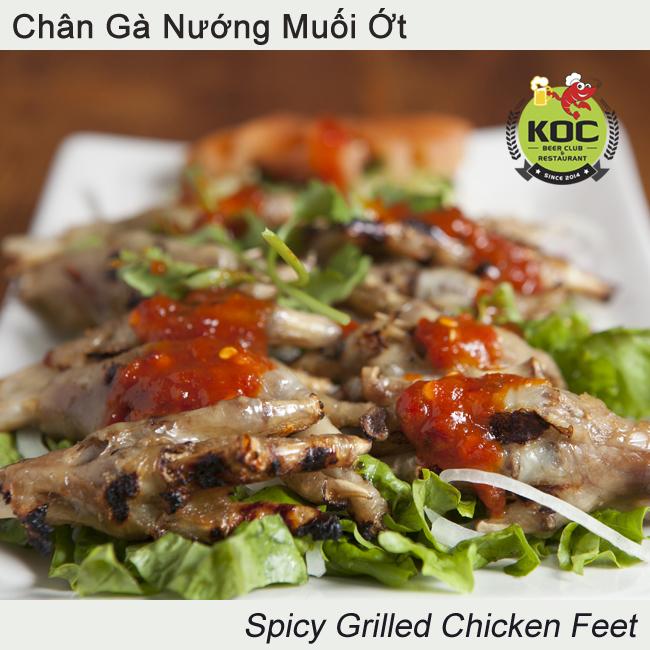 Chân Gà Nướng Muối Ớt Spicy Grilled Chicken Feet Little Saigon KOC Vietnamese Restaurant