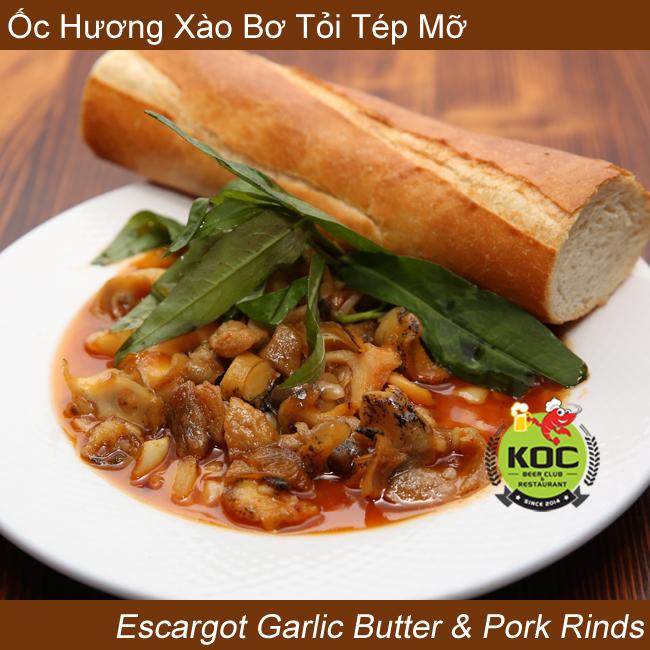 Ốc Hương Xào Bơ Tỏi Tép Mỡ Escargot Garlic Butter & Pork Rinds Little Saigon Vietnamese Restaurant