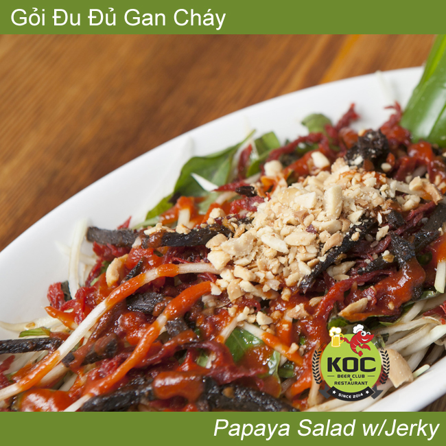 Gỏi Đu Đủ Gan Cháy Papaya Salad w/ Beef Liver Jerky Little Saigon KOC Vietnamese Restaurant