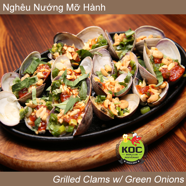 Nghêu Nướng Mỡ Hành Grilled Clams w/ Green Onions Little Saigon Restaurant KOC Garden Grove