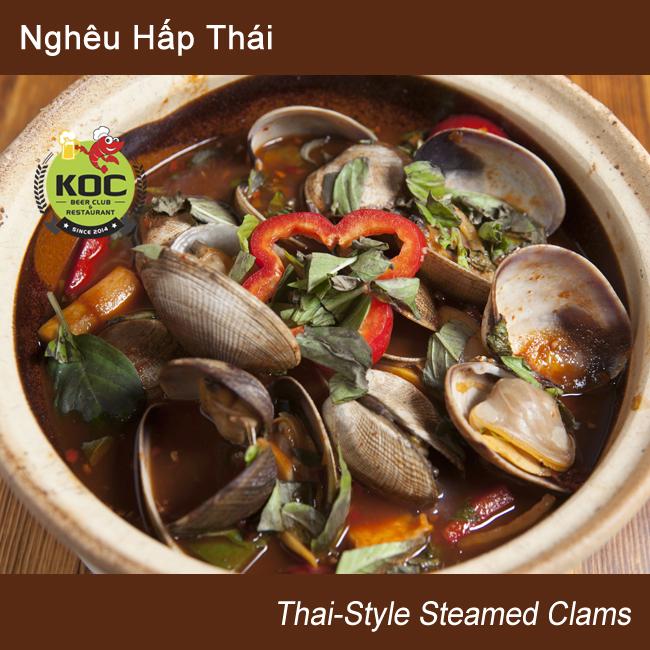 Nghêu Hấp Thái Steamed Clams Thai-Style Little Saigon KOC Restaurant Garden Grove Quan Nhau