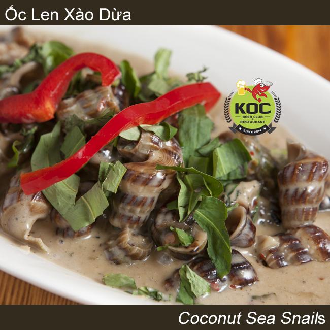 Ốc Len Xào Dừa Coconut Sea Snails Little Saigon Vietnamese Restaurant