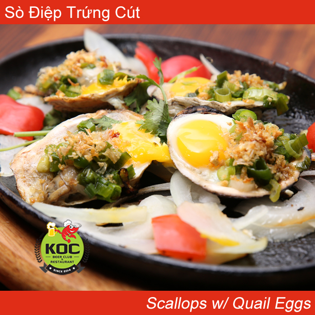 Sò Điệp Trứng Cút  Scallops w/ Quail Eggs Little Saigon Orange County OC Restaurant