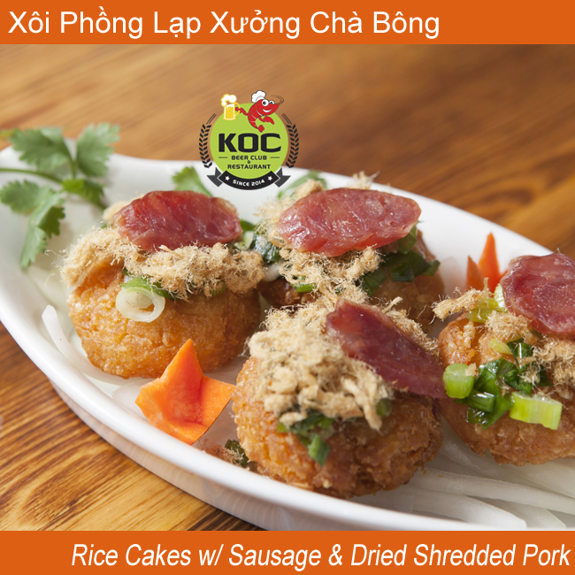 Little Saigon KOC Xôi Phồng Lạp Xưởng Chà Bông Rice Cakes w/ Chinese Sausage & Dried Shredded Pork