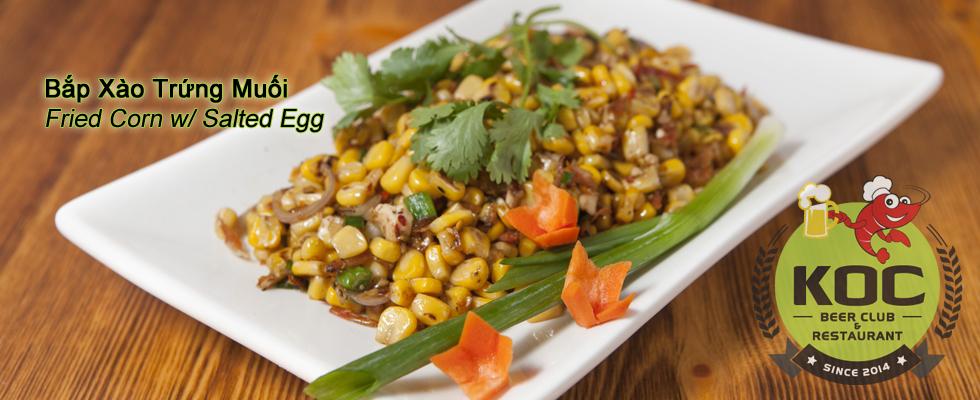 Bắp Xào Trứng Muối - Fried Corn w/ Salted Egg