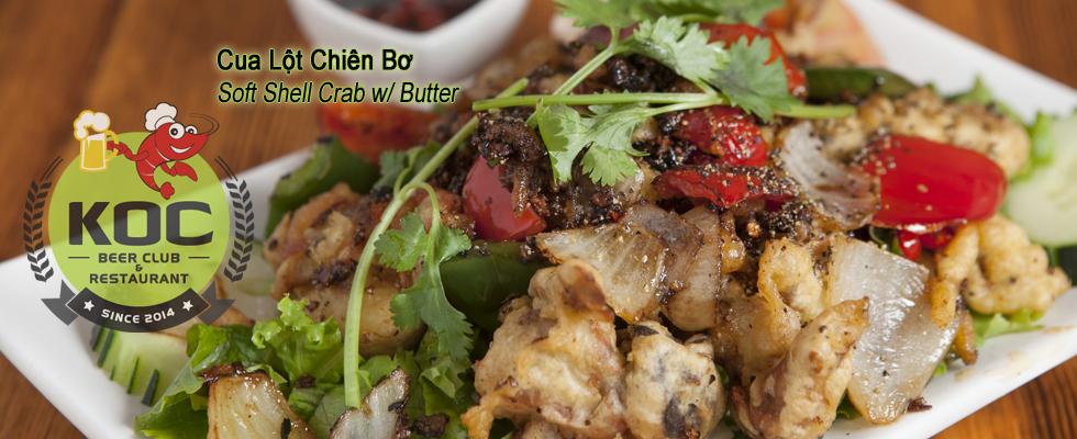 Cua Lột Chiên Bơ - Soft Shell Crab Fried w/ Butter