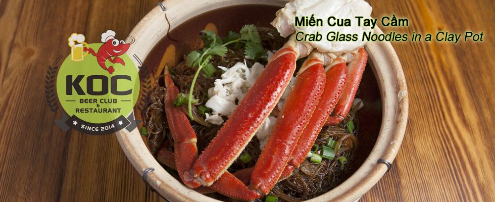 Miến Cua Tay Cầm Crab - Glass Noodles in a Clay Pot