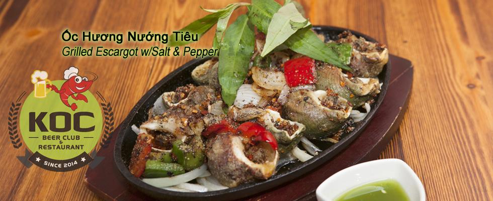 Ốc Hương Nướng Tiêu - Grilled Escargot in Salt & Pepper
