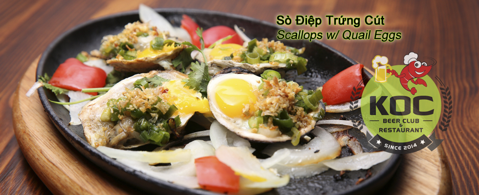 Sò Điệp Trứng Cút - Scallops w/ Quail Eggs